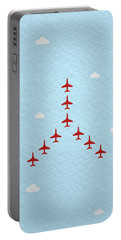 Raf Red Arrows In Formation Portable Battery Charger