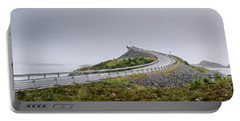 Rainy Day On Atlantic Road Portable Battery Charger