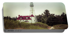 Portable Battery Charger featuring the photograph Rawley Point Lighthouse by Joel Witmeyer