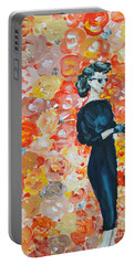 Portable Battery Charger featuring the painting Ready To Love by Maria Langgle