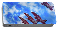 Red Arrows Portable Battery Charger by Roger Lighterness
