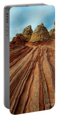 Portable Battery Charger featuring the photograph Red Desert Lines by Mike Dawson