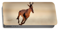 Red Hartebeest Running Portable Battery Charger