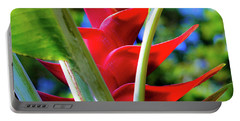 Red Heliconia Hawaii Portable Battery Charger