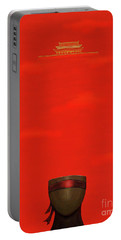 Red Impression Portable Battery Charger