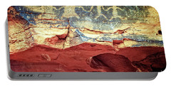 Red Rock Canyon Petroglyphs Portable Battery Charger by Jim And Emily Bush