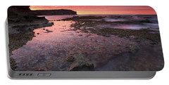 Red Sky At Morning Portable Battery Charger