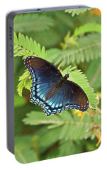 Portable Battery Charger featuring the photograph Red Spotted Purple Butterfly by Sandy Keeton