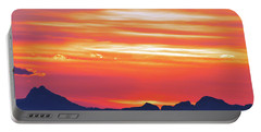 Red Sunrise Portable Battery Charger