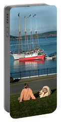 Relaxing On The Coast Portable Battery Charger