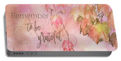 Remember To Be Grateful Portable Battery Charger
