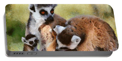 Ring Tailed Lemurs Family Portable Battery Charger