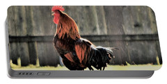 Portable Battery Charger featuring the photograph 2017, The Year Of The Rooster by John Glass