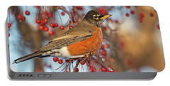 Portable Battery Charger featuring the photograph Robin.. by Nina Stavlund