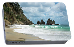 Portable Battery Charger featuring the photograph Rocks Of Coromandel, New Zealand by Yurix Sardinelly