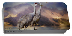 Rocky Mountain Sandhill Cranes Portable Battery Charger