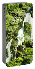 Rocky Mountain Waterfall Portable Battery Charger