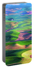 Green Hills Of The Palouse Portable Battery Charger by James Hammond