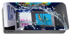 Rooftop Saltwater Fish Tank Art Portable Battery Charger