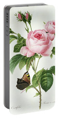 Rosa Centifolia Portable Battery Charger by Pierre Joseph Redoute