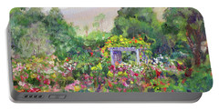 Rose Garden In Bloom Portable Battery Charger