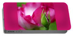 Portable Battery Charger featuring the photograph Budding Rose by Rona Black
