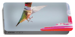 Portable Battery Charger featuring the photograph Ruby-throated Hummingbird  by Ricky L Jones