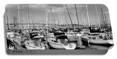 Sail Boats At San Francisco China Basin Pier 42 With The Bay Bridge In The Background . 7d7666 Portable Battery Charger