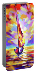 Sailbout Sunset Portable Battery Charger by Tim Gilliland