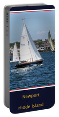 Portable Battery Charger featuring the photograph Sailing Newport by Tom Prendergast