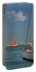 Portable Battery Charger featuring the photograph Sailing On Boston Harbor by Joann Vitali