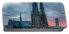 Saint Catherina Church In Eindhoven Portable Battery Charger by Semmick Photo