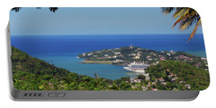 Portable Battery Charger featuring the photograph Saint Lucia by Gary Wonning