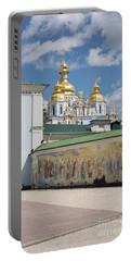 Saint Michael's Golden-domed Monastery, Kiev, Ukraine Portable Battery Charger
