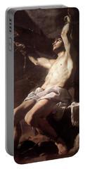 Saint Sebastian By Mattia Preti Portable Battery Charger