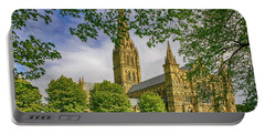 Salisbury Cathedral, Uk Portable Battery Charger by Chris Smith