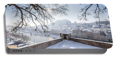 Salzburg Winter Dreams Portable Battery Charger by JR Photography