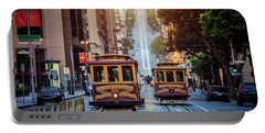 San Francisco Cable Cars Portable Battery Charger by JR Photography