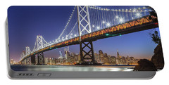 San Francisco City Lights Portable Battery Charger by JR Photography