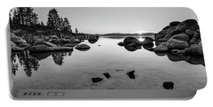 Sand Harbor Sunset Portable Battery Charger