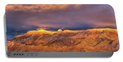 Sandia Crest Stormy Sunset Portable Battery Charger by Alan Vance Ley