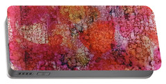Portable Battery Charger featuring the painting Sangria Ink #16 by Sarajane Helm