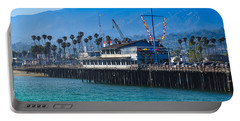 Portable Battery Charger featuring the photograph Santa Barbara Pier by Dany Lison