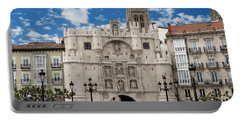 Santa Maria Arch - Old City Entry - Burgos Spain Portable Battery Charger by Jon Berghoff