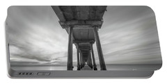 Scripps Pier Bw  Portable Battery Charger