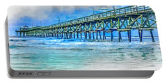 Sea Blue - Cherry Grove Pier Portable Battery Charger