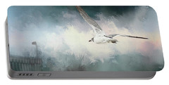 Seagull In Flight Portable Battery Charger by Sennie Pierson