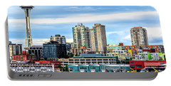 Seattle Skyline Hdr Portable Battery Charger