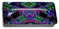 Portable Battery Charger featuring the digital art Secret Garden by Robert Orinski