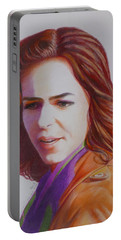 Self-portrait Portable Battery Charger by Constance DRESCHER